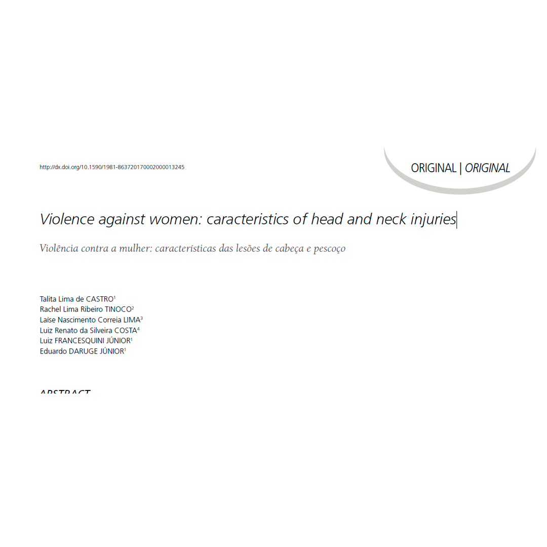 Violence Against Women: Caracteristics of Head and Neck Injuries
